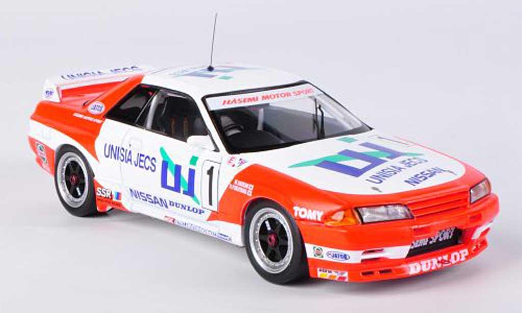 Nissan Skyline R32 1/43 HPI GT-R No.1 Unisia Jecs M.Hasemi / H.Fukuyama JTC Suzuka 1993 miniature