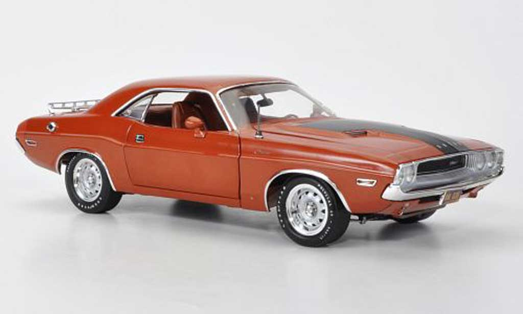 Dodge Challenger 1970 1/18 Highway 61 marron/matt noire miniature