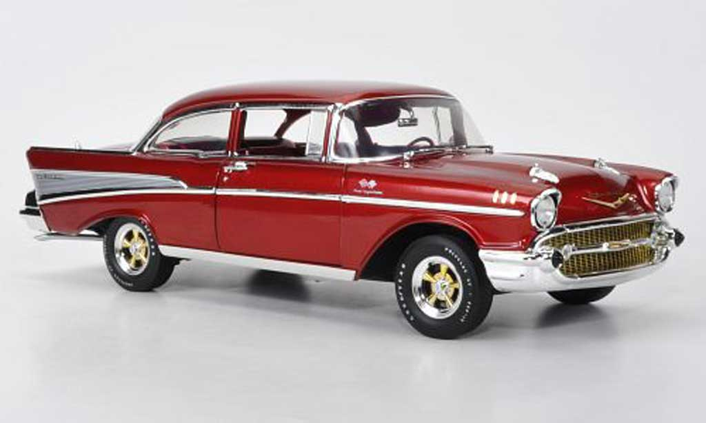 Chevrolet Bel Air 1/18 Highway 61 rouge 1957 miniature