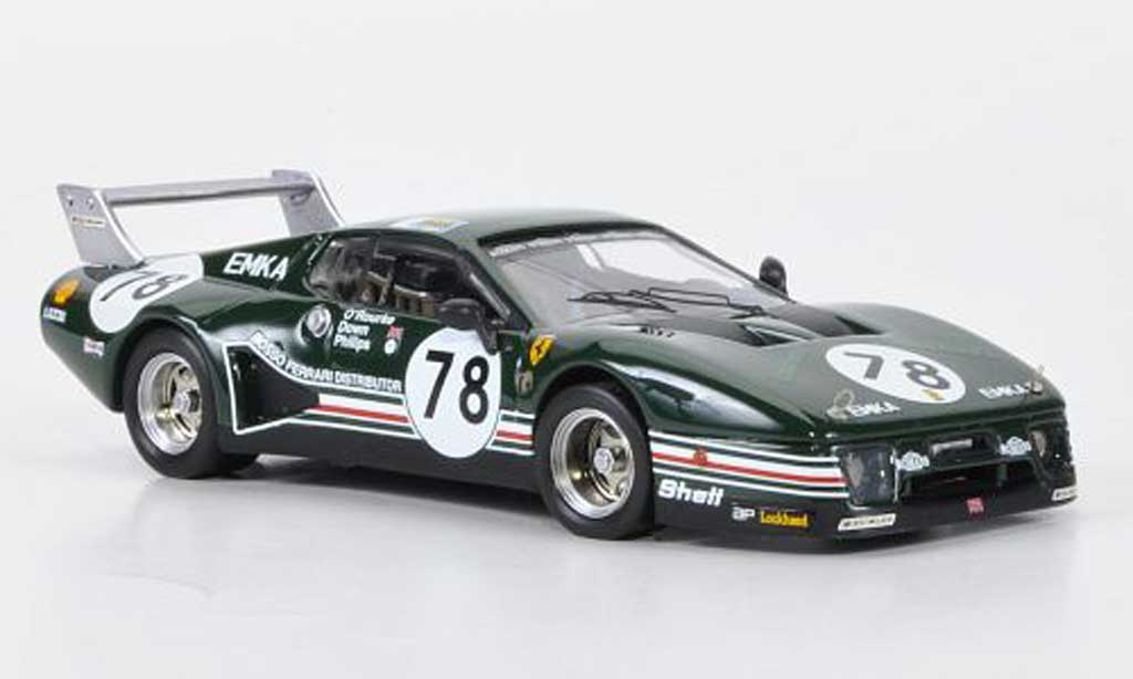 Ferrari 512 BB LM 1/43 Best No.78 O'Rourke / Down / Philips 24h Le Mans 1980 miniatura