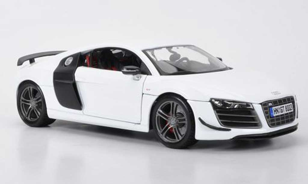 audi r8 gt miniature blanche carbonoptik maisto 1 18 voiture. Black Bedroom Furniture Sets. Home Design Ideas