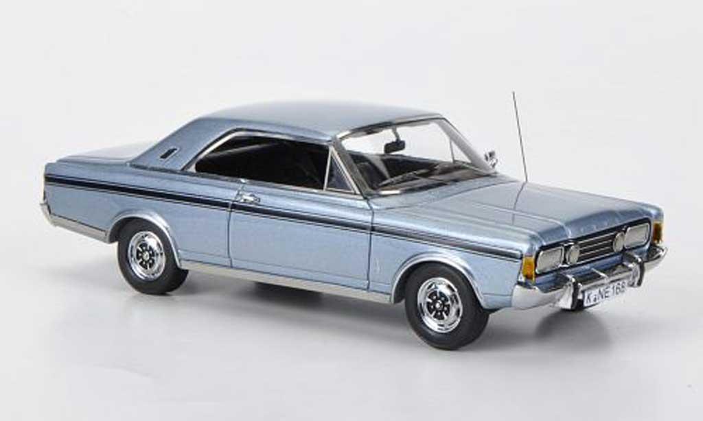 Ford Taunus 1970 1/43 Neo (P7b) 23M  bleu miniature