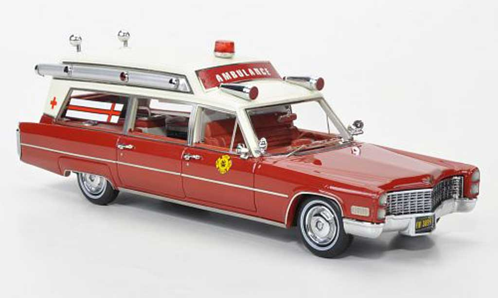 Cadillac S & S 1/43 Neo Ambulance Fire Rescue miniature