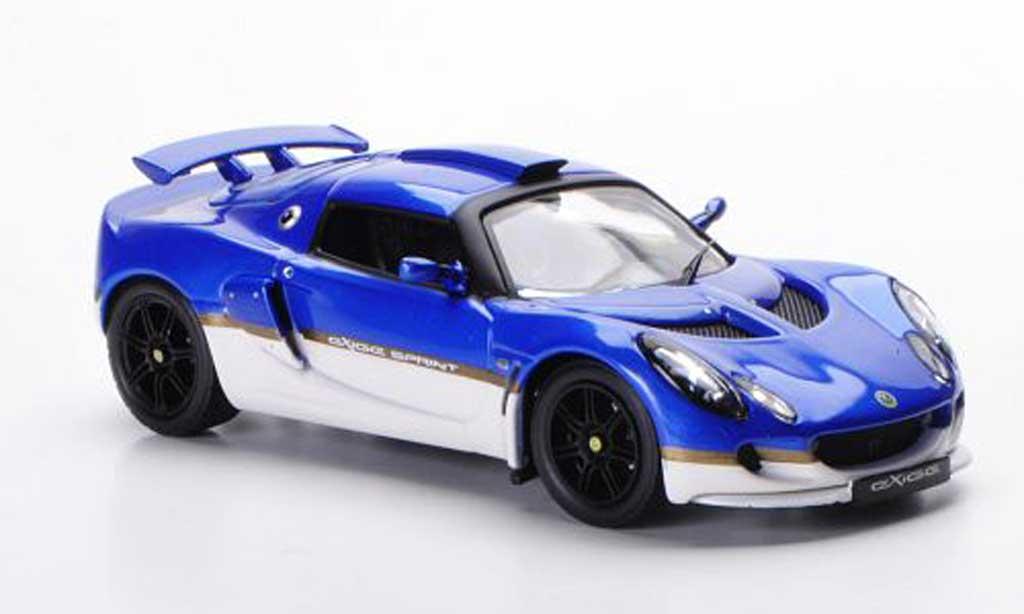 Lotus Exige 1/43 IXO Sprint bleu/blanche LHD 2006 miniature