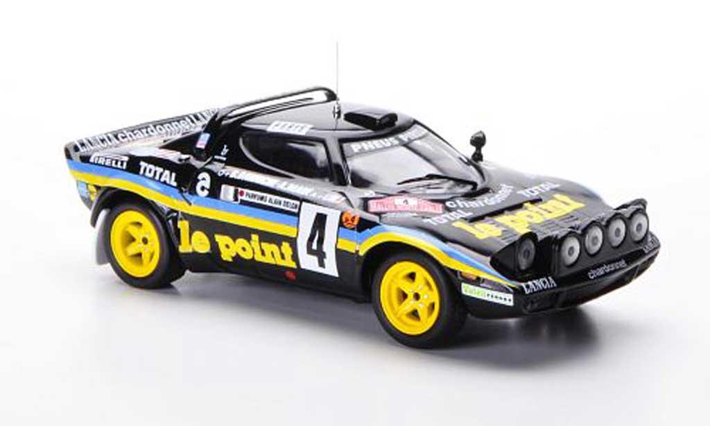 Lancia Stratos Rallye 1/43 IXO HF No.4 le point B.Darniche / A.Mah? Rally Monte Carlo 1981 miniature