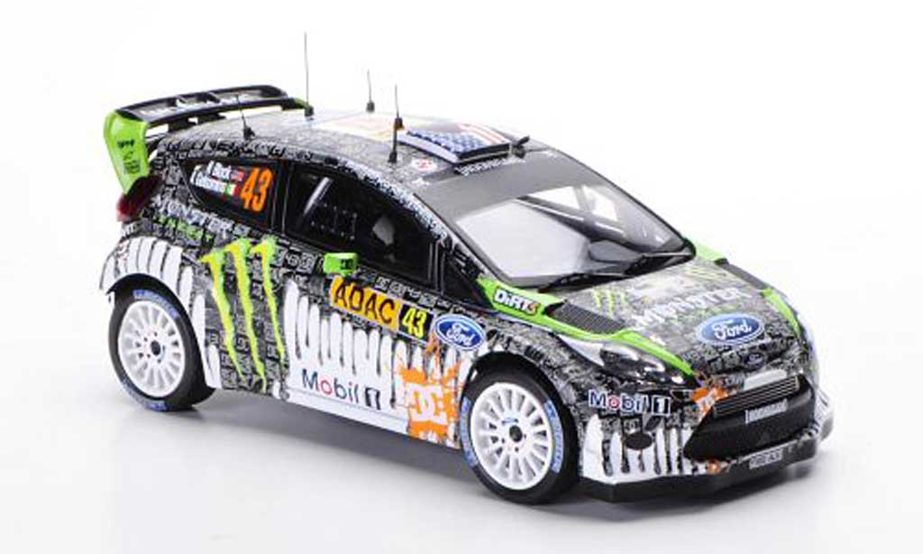 Ford Fiesta WRC 1/43 IXO No.43 K.Block / A.Gelsomino Rally Deutschland 2011 miniature
