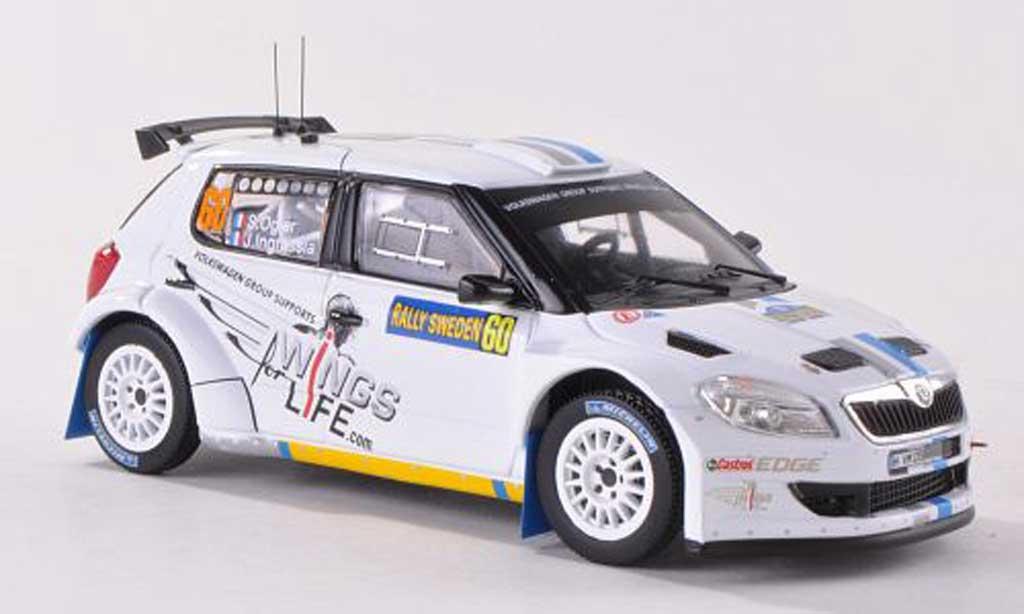 Skoda S2000 1/43 IXO No.60 Wings for Life Rally Schweden  2012 S.Ogier/J.Ingrassia miniature