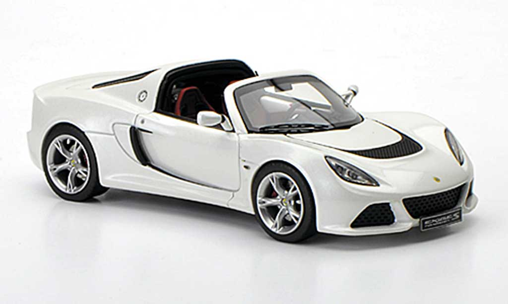 Lotus Exige 1/43 Look Smart S Roadster blanche Autosalon Genf 2012 miniature