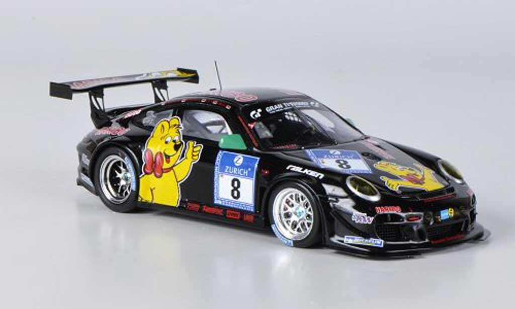 Porsche 997 GT3 R 2011 1/43 Spark No.8 Haribo 24h Nurburgring miniature