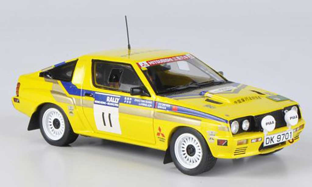 Mitsubishi Starion 1/43 Reve Collection 4WD No.11 L.Ningjun / Z.Yanxiang Rally Hong Kong-Peking 1986 miniature