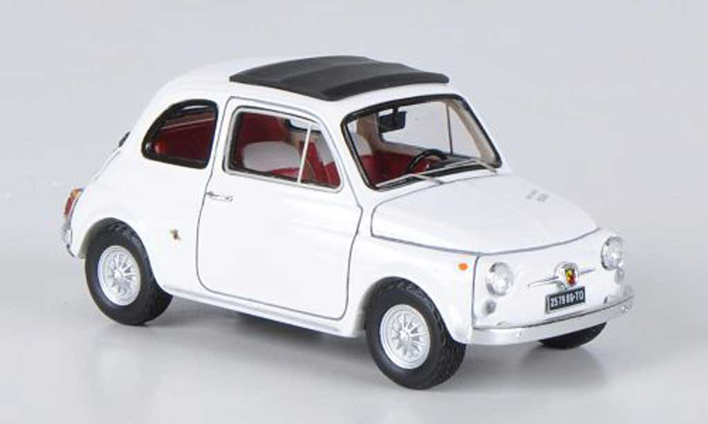 Fiat 595 1/43 Spark Abarth SS white 1966 diecast model cars