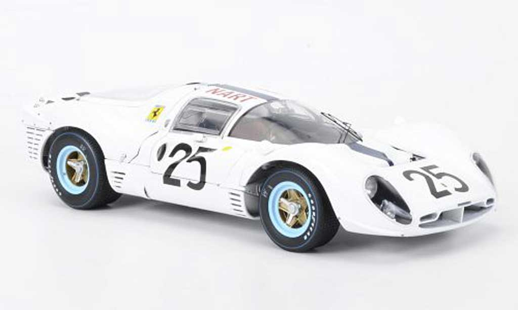 Ferrari 412 1/18 GMP NART P No.25 blanche Rodriguez 1967 miniature