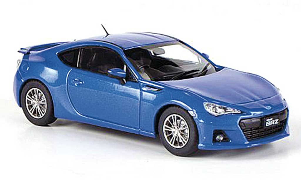 Subaru BRZ 1/43 Ebbro bleu RHD 2012 miniature