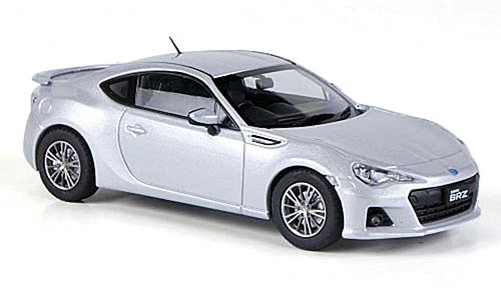 Subaru BRZ 1/43 Ebbro grise RHD 2012 miniature