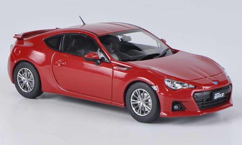 Subaru BRZ 1/43 Ebbro rouge RHD 2012 miniature