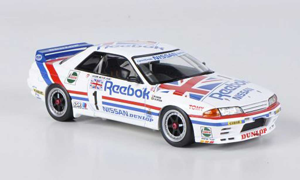 Nissan Skyline R32 1/43 HPI GT-R No.1 Reebok M.Hasemi / A.Olofsson JTC West Japan 1990 diecast model cars