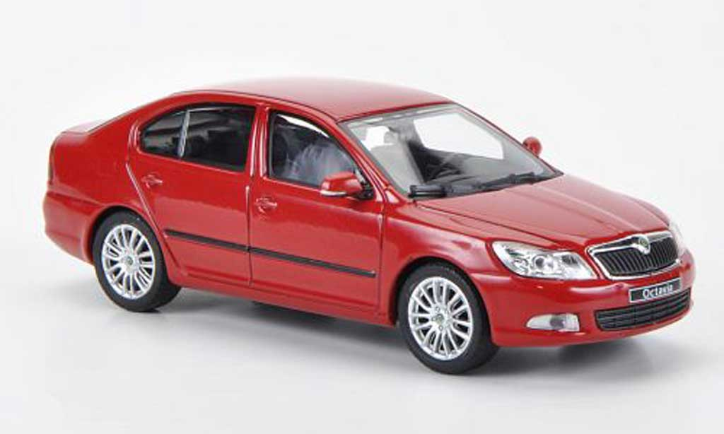 skoda octavia red corrida 2008 abrex diecast model car 1. Black Bedroom Furniture Sets. Home Design Ideas