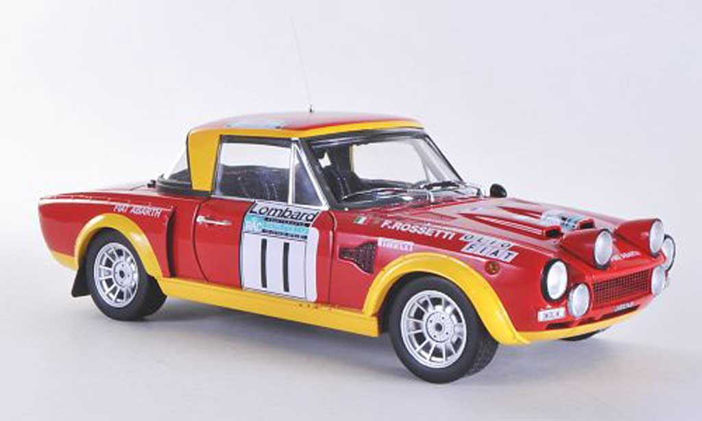 Fiat 124 Abarth 1/18 Sun Star Abarth Rallye No.11 M.Verini / F.Rossetti RAC Rally 1975