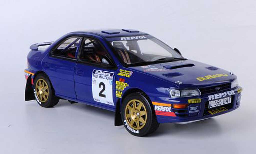 Subaru Impreza 555 1/18 Sun Star No.2 Winner Rally of New Zealand 1994 C.McRae/D.Ringer miniature