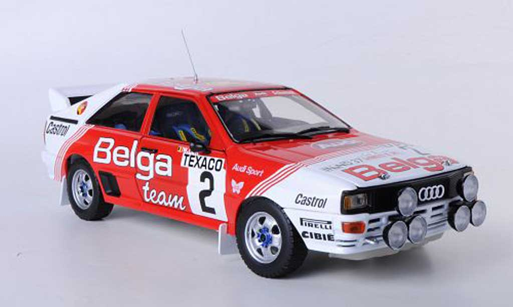 Audi Quattro 1/18 Sun Star A1 No.2 Belga Rally Boucles de Spa 1983 M.Dues/W.Lux miniature