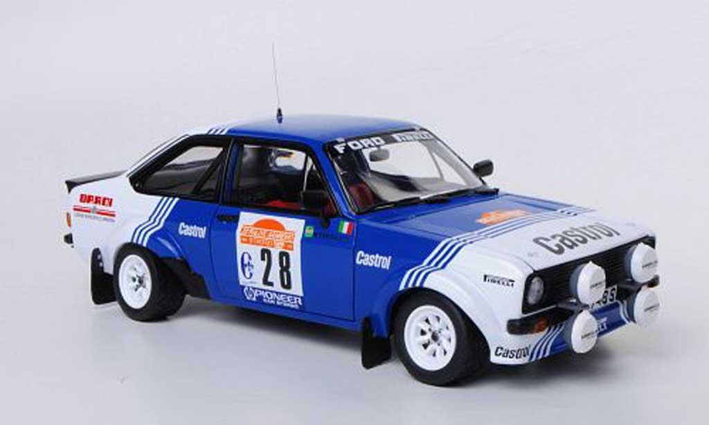 Ford Escort RS 1800 1/18 Sun Star No.28 Castrol A.Presotto / M.Perissutti Rally Sanremo 1981 miniature