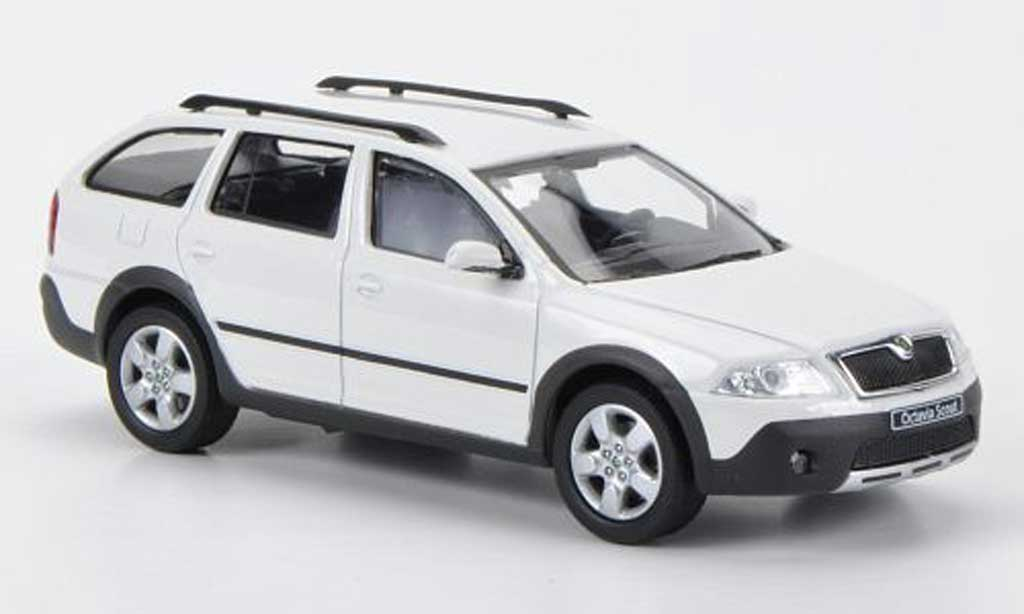 skoda octavia combi scout white abrex diecast model car 1. Black Bedroom Furniture Sets. Home Design Ideas