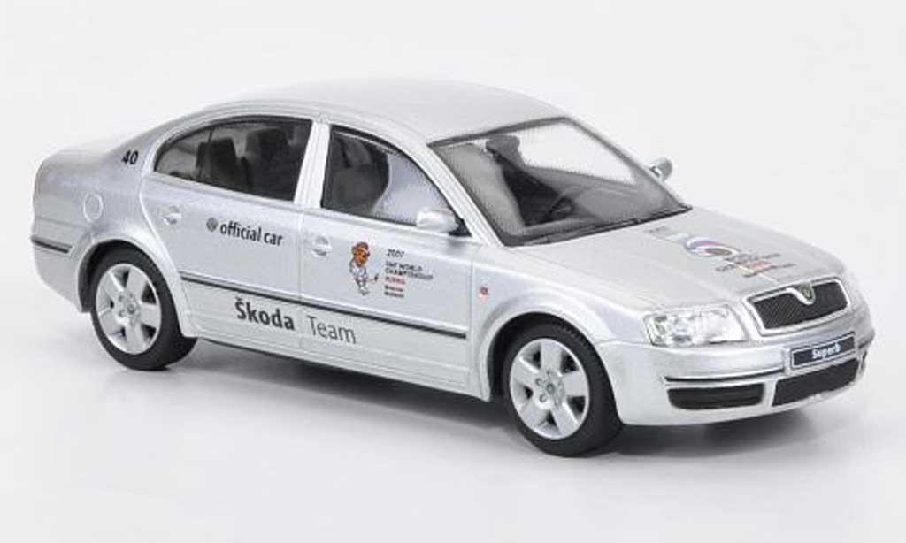 Skoda Superb 2007 1/43 Abrex Official Car - Hockeyweltmeisterschaft Russland miniature