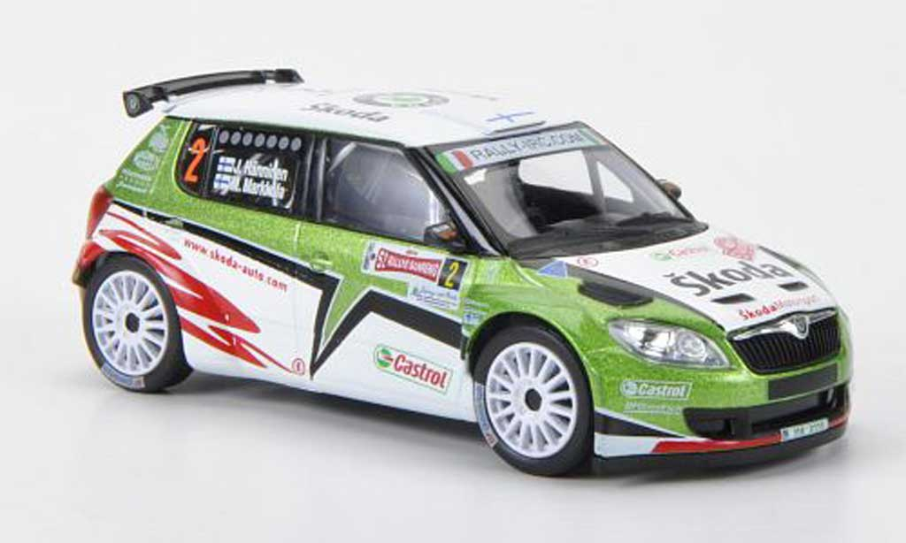 skoda fabia s2000 miniature no 2 rally monte carlo 2011 abrex 1 43 voiture. Black Bedroom Furniture Sets. Home Design Ideas