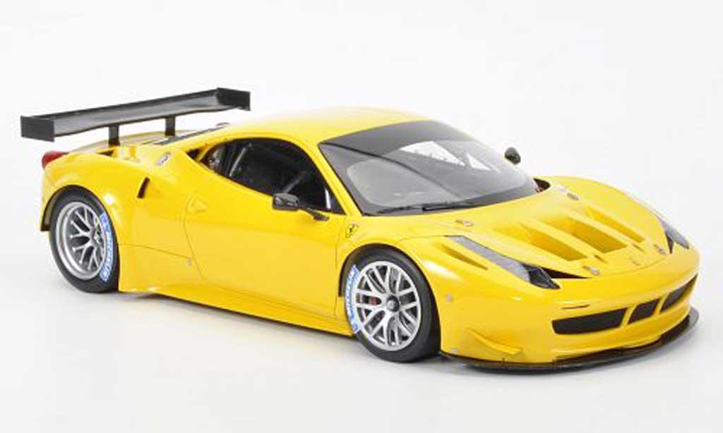 ferrari 458 italia gt2 miniature jaune mr collection 1 18 voiture miniature. Black Bedroom Furniture Sets. Home Design Ideas