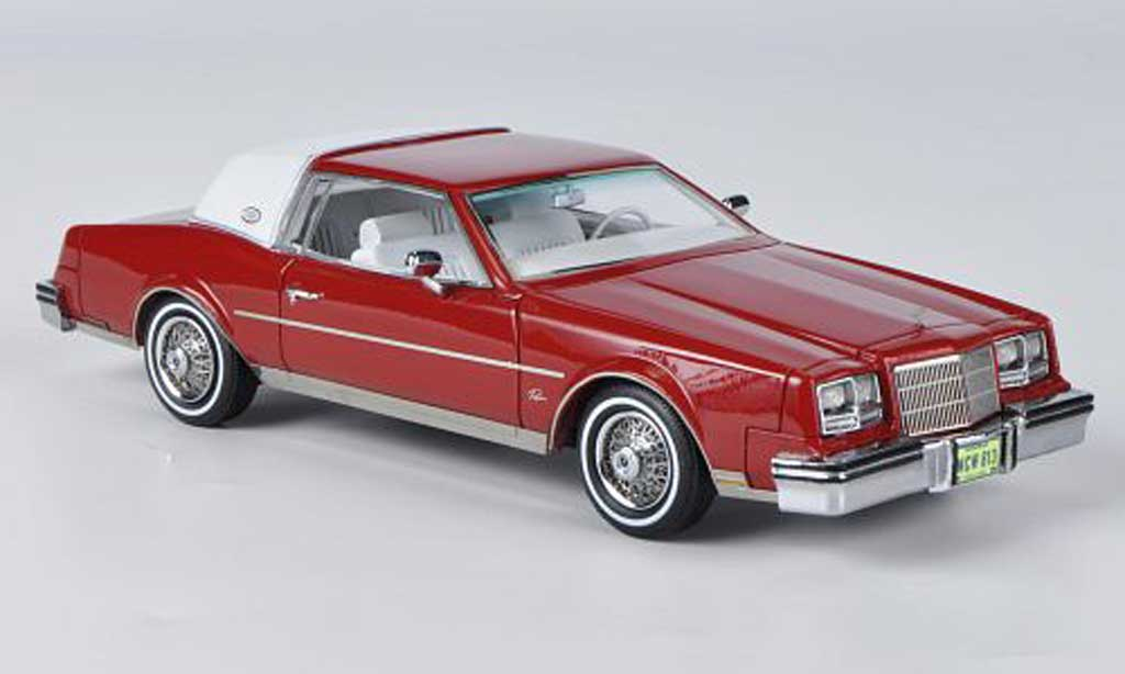 Buick Riviera 1982 1/43 American Excellence rouge/blanche miniature
