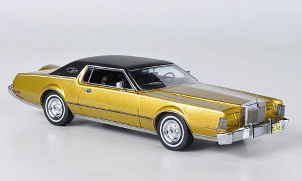Lincoln Continental 1973 1/43 American Excellence MK IV gold/noire miniature