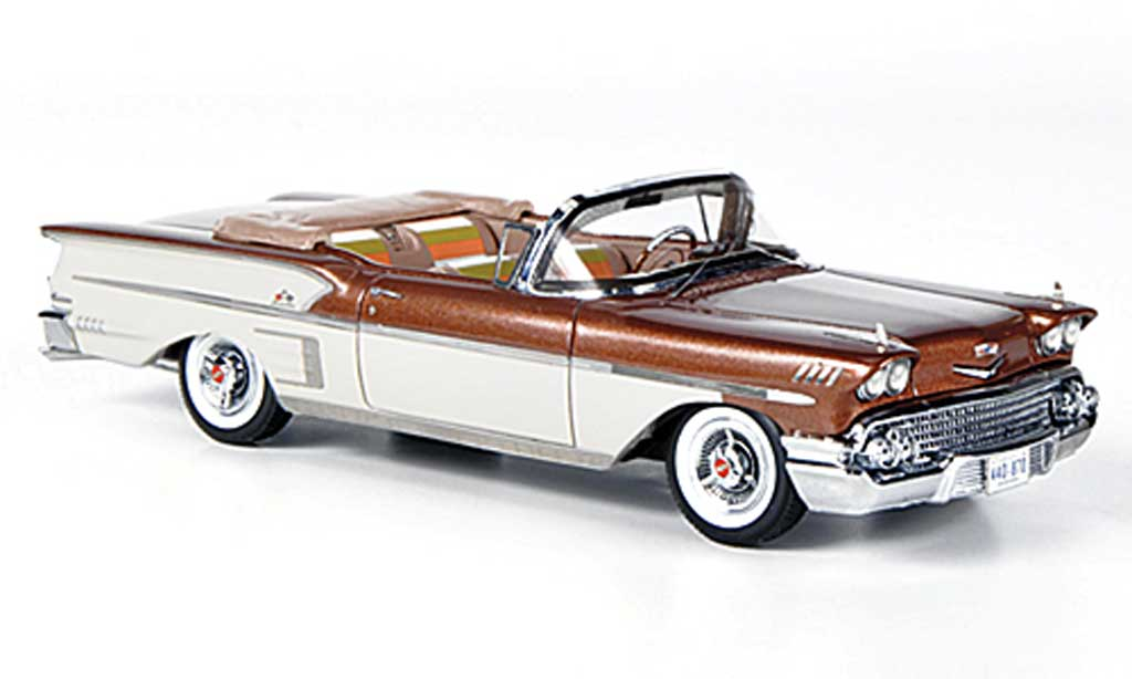 Chevrolet Bel Air 1958 1/43 American Excellence Impala 2-portes Convertible kupfer/white limitierte Auflage 500 diecast model cars