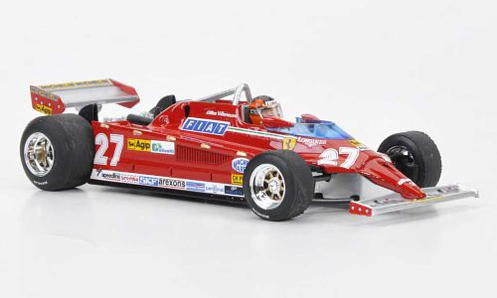 Ferrari 126 1981 1/43 Brumm CK Turbo No.27 G.Villeneuve GP Italien 30 Jahre diecast model cars