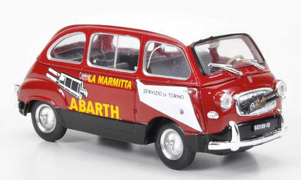 fiat 600 d multipla abarth rot weiss la marmitta 1960. Black Bedroom Furniture Sets. Home Design Ideas