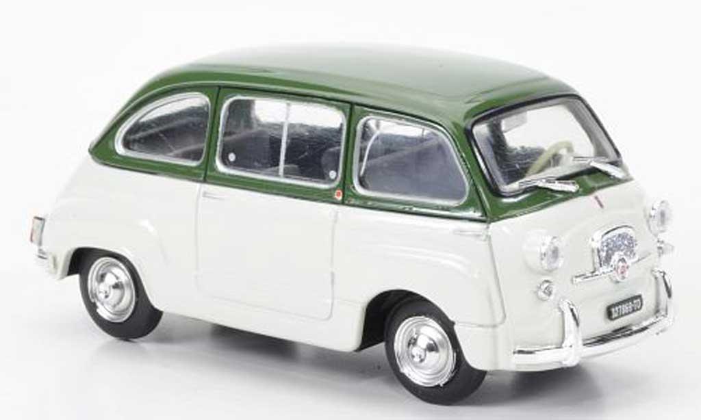 Fiat 600 1/43 Brumm D Multipla olivverte/blanche 1960 miniature