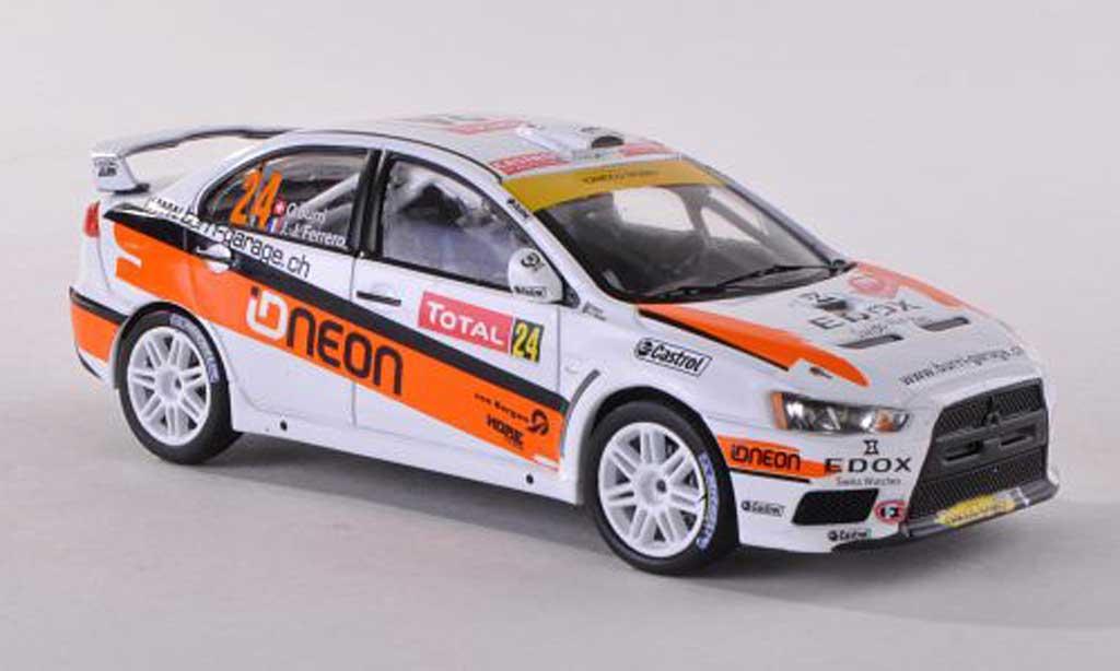 Mitsubishi Lancer Evolution X 1/43 IXO No.24 Edox Rally Monte Carlo 2012 O.Burri/J.Ferrero miniature