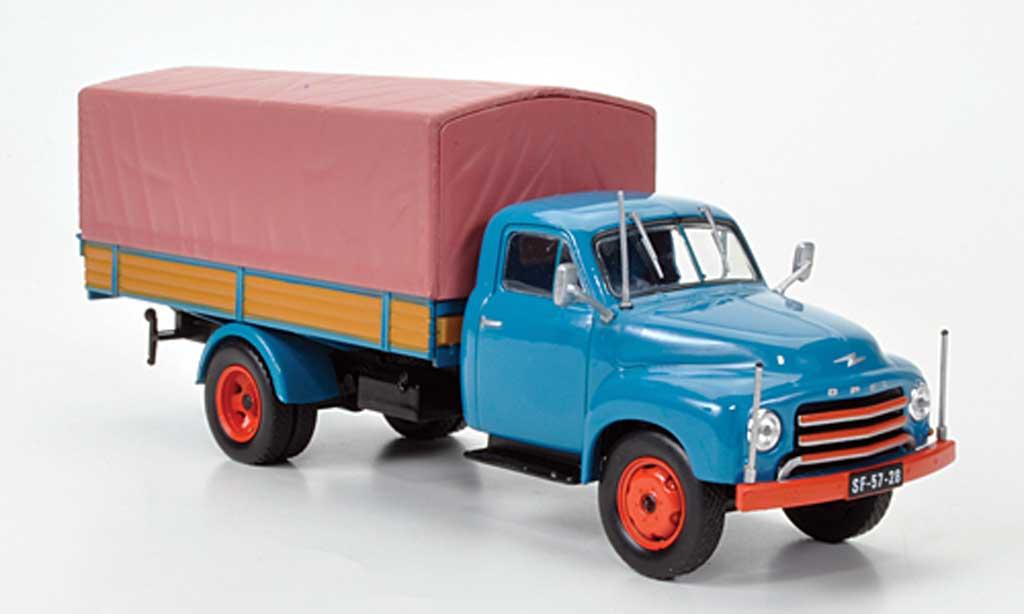Opel Blitz 1/43 Hachette 175 Tonner-LKW bleu (ohne Magazin) 1952 miniature
