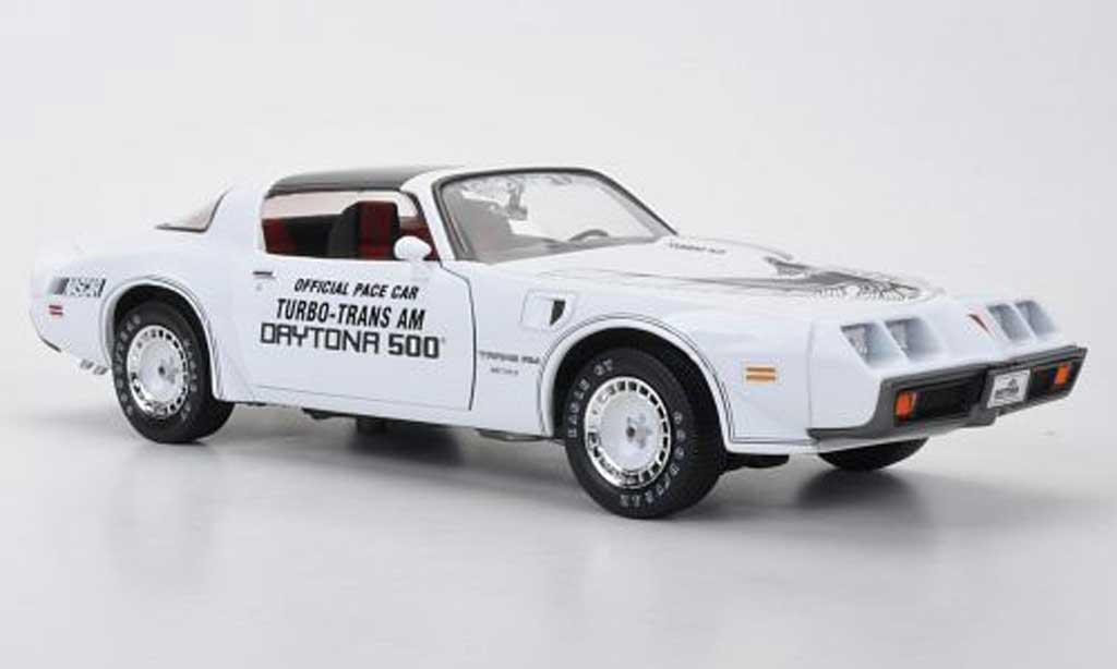 Pontiac Firebird 1981 1/18 Greenlight Turbo T/A Official Pace Car Daytona 500 miniature