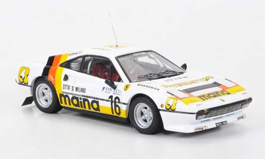 Ferrari 308 GTB 1/43 Best No.16 Maina Rally dei Laghi 1984 miniature