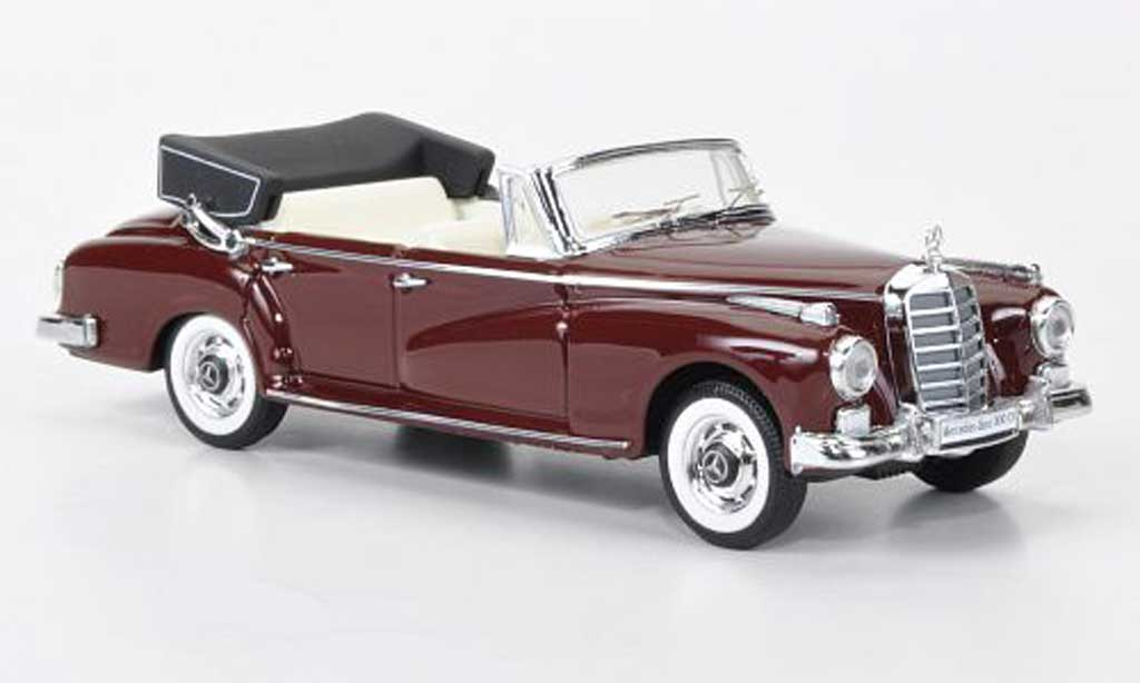 Mercedes 300 D 1/43 Rio Cabriolet red 1958 diecast model cars