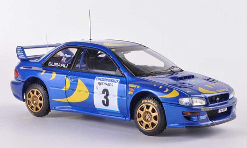 Miniature Subaru Impreza WRC 97 No.3 C.McRae / N.Grist Rally Schweden  1997 HPI Mirage. Subaru Impreza WRC 97 No.3 C.McRae / N.Grist Rally Schweden  1997 Rallye miniature 1/43