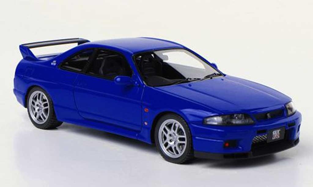 Nissan Skyline R33 1/43 HPI GT-R V-Spec LM Limited  bleu RHD miniature