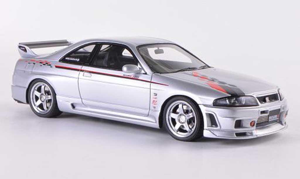 Nissan Skyline R33 1/43 HPI Nismo GT-R R-Tune grise RHD miniature