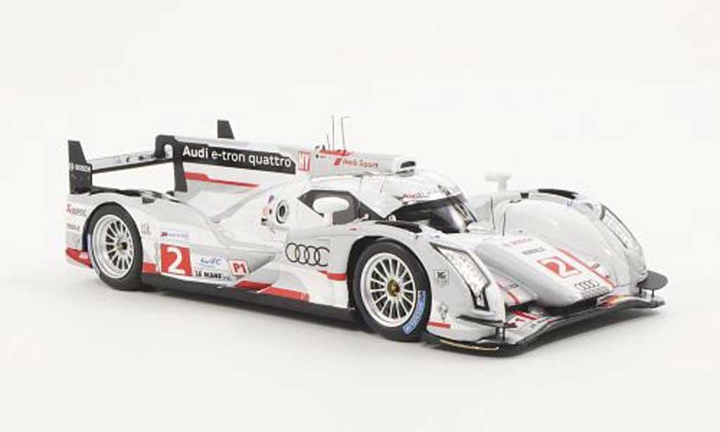Audi R18 e-tron 1/43 Spark e-tron quattro No.2 Team Joest R.Capello / T.Kristensen / A.McNish 24h Le Mans 2012 miniature