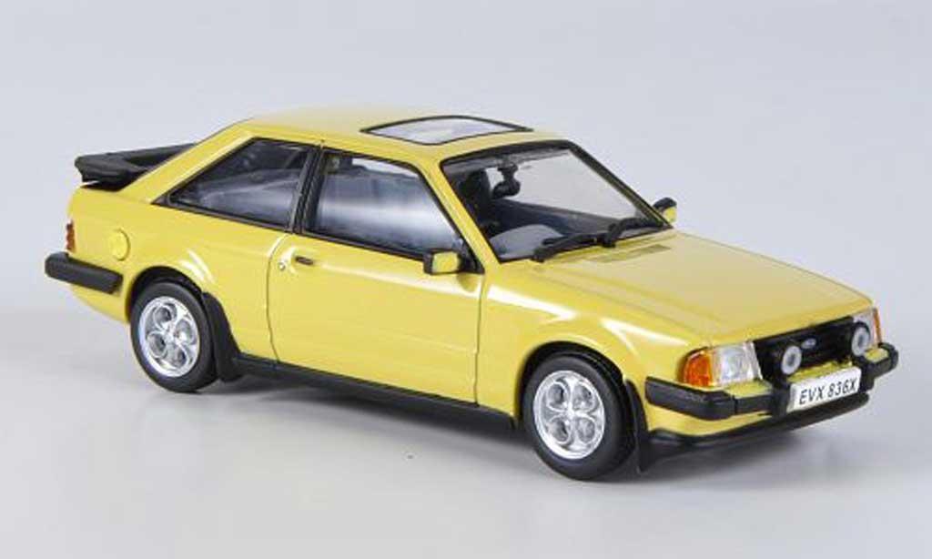 Ford Escort MK3 1/43 Vitesse XR3 jaune 1981 miniature