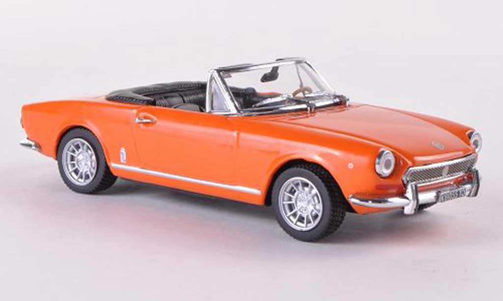 Fiat 124 Spider 1/43 Vitesse BS orange 1970 miniature