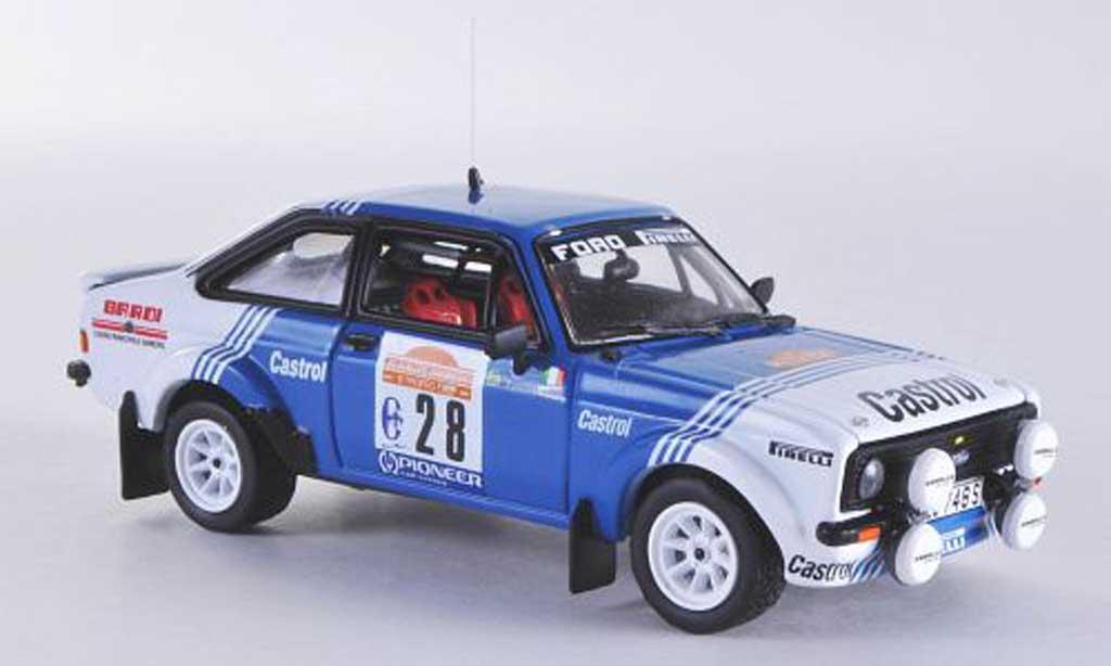 Ford Escort RS 1800 1/43 Vitesse MKII No.28 Castrol A.Presotto / M.Perissutti Rally Sanremo 1981 miniature