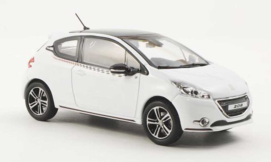 peugeot 208 miniature ligne s blanche 2012 norev 1 43 voiture. Black Bedroom Furniture Sets. Home Design Ideas
