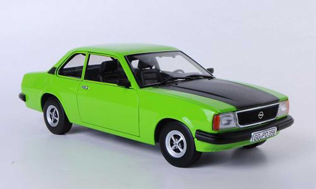Opel Ascona B 1/18 Sun Star SR verte/noire miniature
