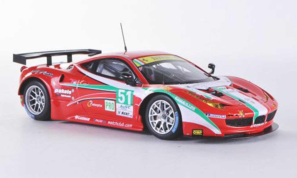 Ferrari 458 Italia GT2 1/43 Fujimi No.51  AF Corse 24h Le Mans 2012 miniatura
